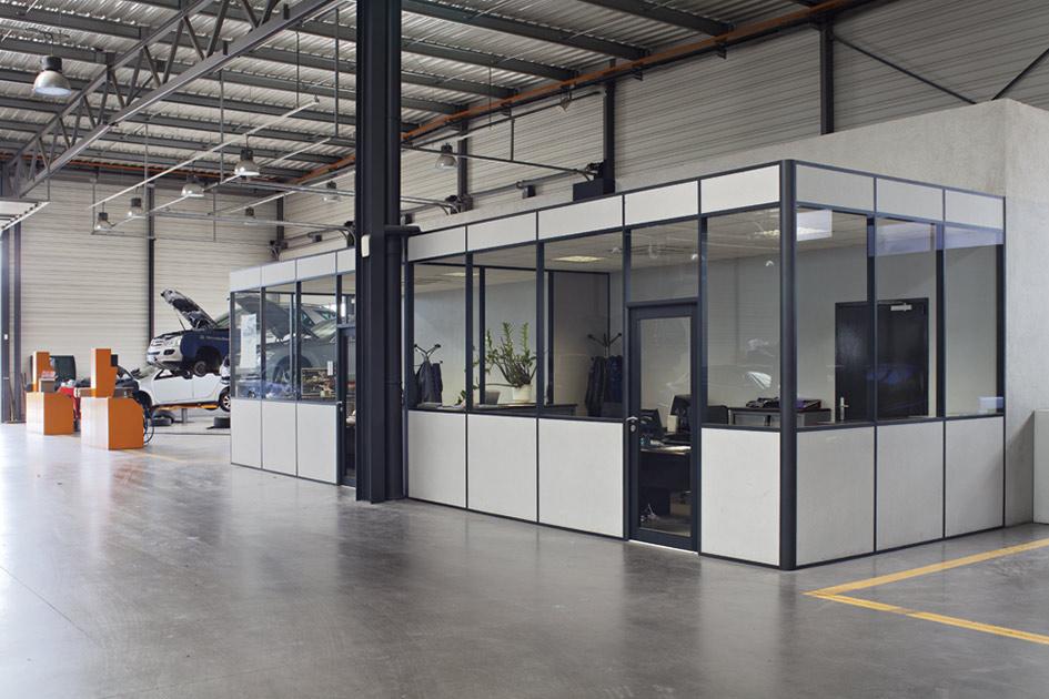 Cabine industrielle avec cloison H7