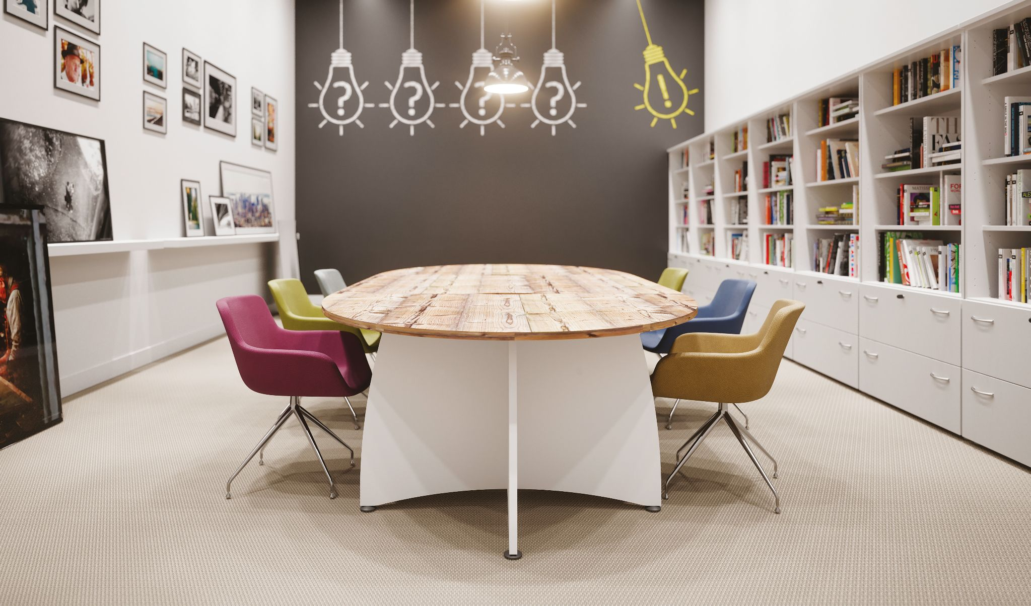Table de réunion ovale - Ensemble