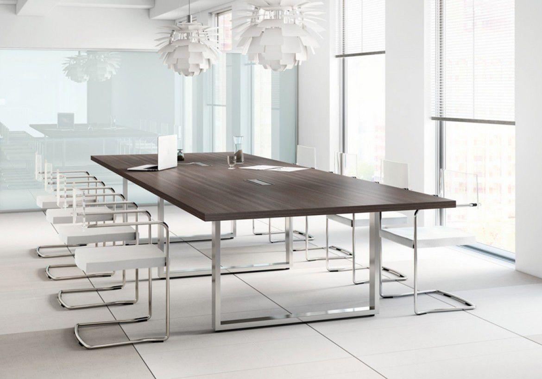 Table de réunion rectangulaire - Prestige