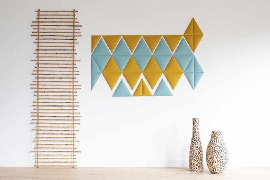Sticks muraux acoustiques en origamie