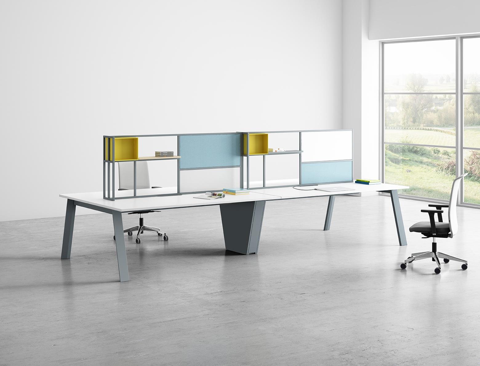 Bureau open space avec rangement