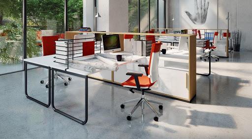 Open space avec meubles de rangement séparatif